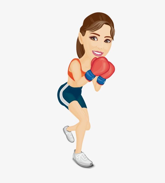 Boxing clipart woman boxing, Boxing woman boxing Transparent.