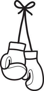 clip art women\'s boxing gloves.