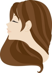 Brown Haired Woman Clipart.