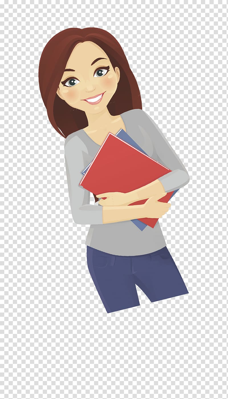 Woman character illustration, Cartoon Woman Teacher Female.