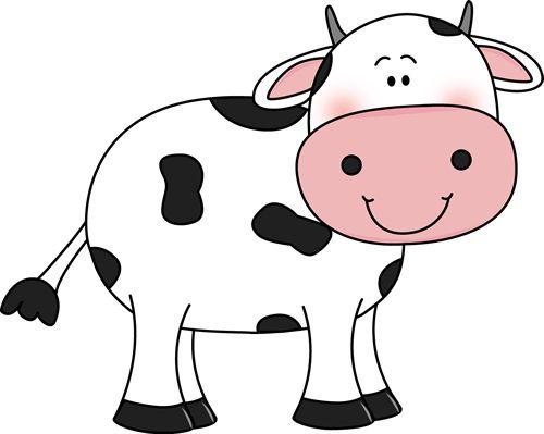 Cute cow clipart girl.