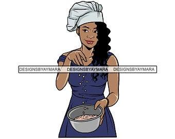 Female chef art.