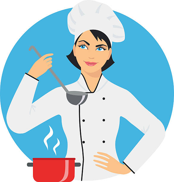 Female Chef Clipart Images.