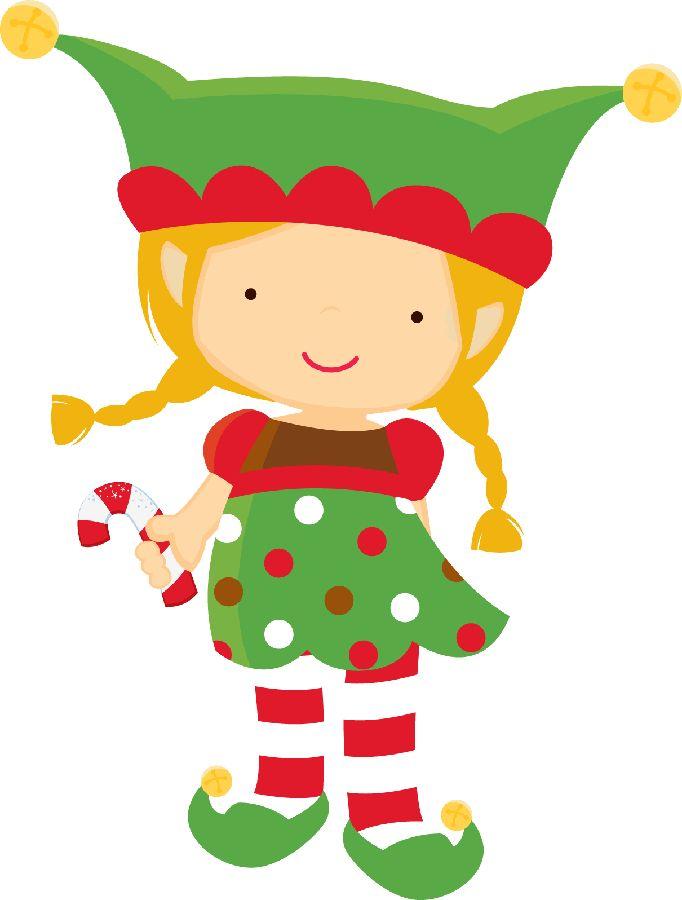 2428 Christmas Elf free clipart.
