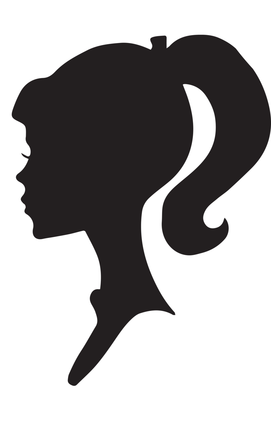 Female Silhouette Profile by snicklefritz.