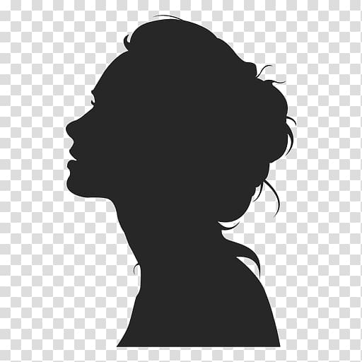 Woman illustration, Silhouette Female Woman, girl face.