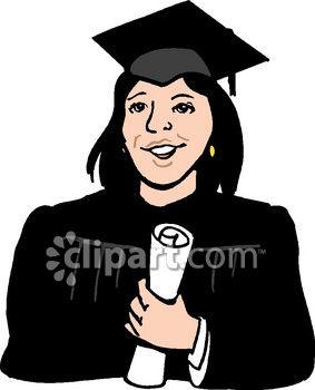 Female College Student Clipart.
