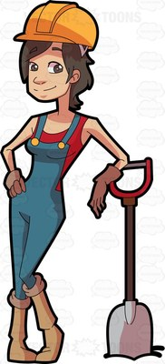 construction worker Cartoon Clipart.