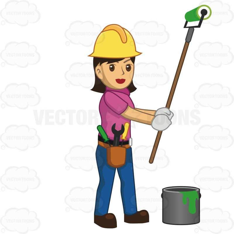 Showing post & media for Cartoon girl construction worker clip art.