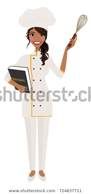 Female Cook Chef Clipart Vector Logo Stock Vector (Royalty Free.