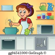 Female Cook Clip Art.