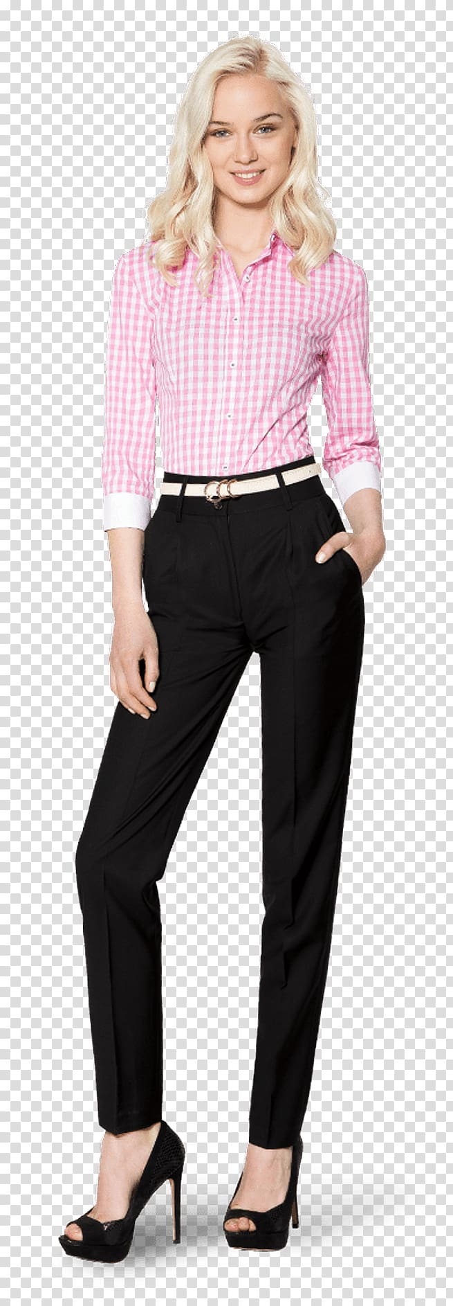 Blouse Sleeve Pants Dress shirt, corporate attire women.