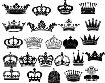 king and queen crowns together clipart #16