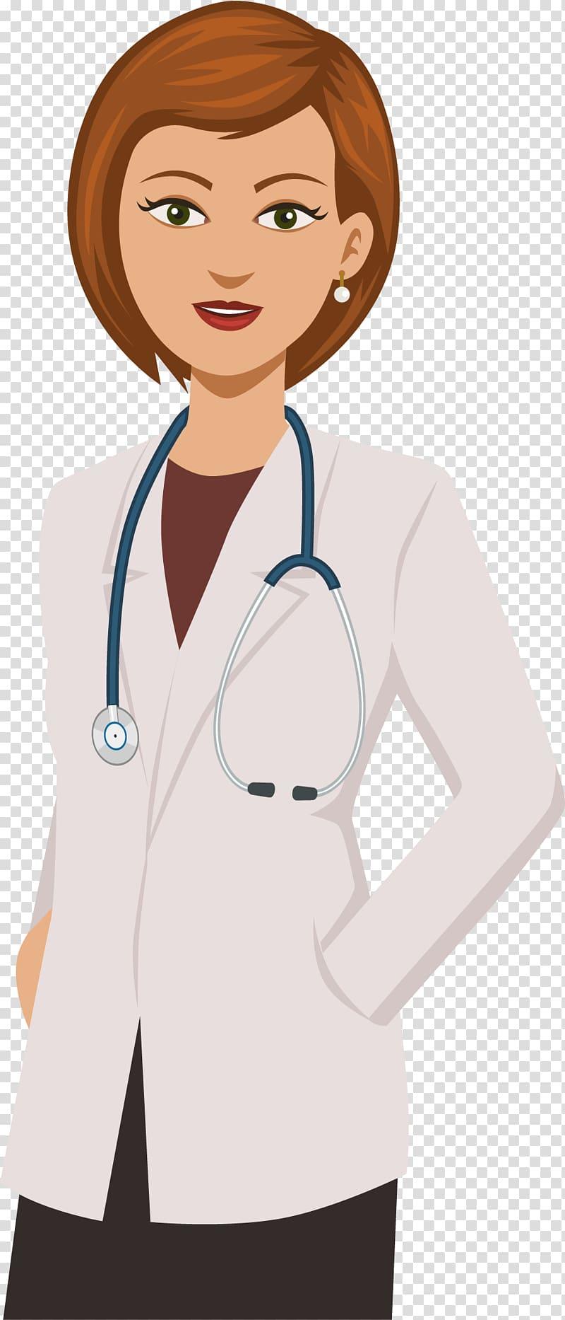 Female doctor illustration, Cartoon Network Physician.