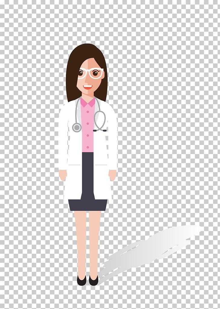 Physician Cartoon , cartoon female doctor material, doctor.