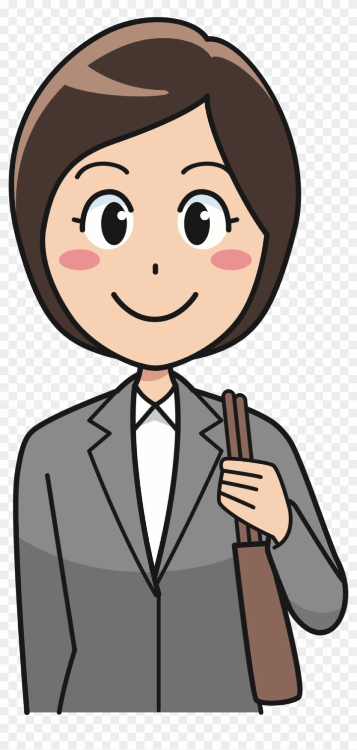 Big Image Female Employee Clipart Image Provided.