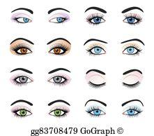 Female Eyes Clip Art.