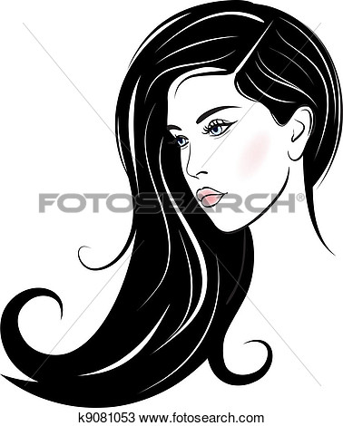 Beautiful Girl Face Clipart.