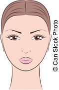 female face clipart #9
