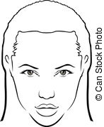 Vectors of Female Beautiful Face csp8388673.