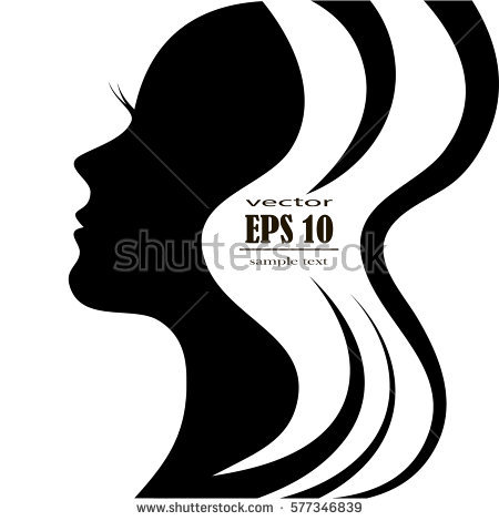 Woman Face Silhouette Images.