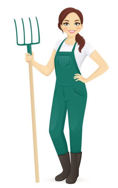 Best Female Farmer Illustrations, Royalty.