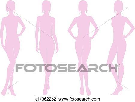 Woman figure Clipart.