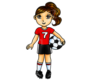 Soccer Clipart Red Girl Sports Clip Art Team World Cup Planner.