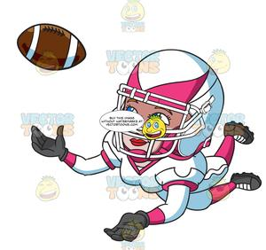 A Female Football Player Catching The Ball.
