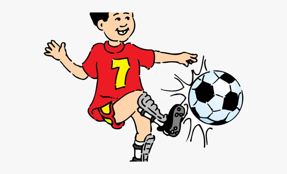 Footballer Clipart Female Footballer.