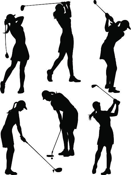 Best Female Golf Illustrations, Royalty.