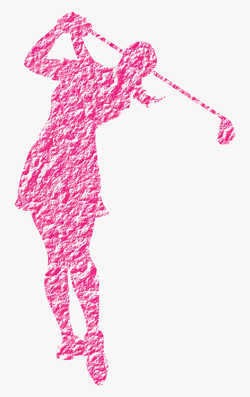 Female Golfer Posing Golf Swing.
