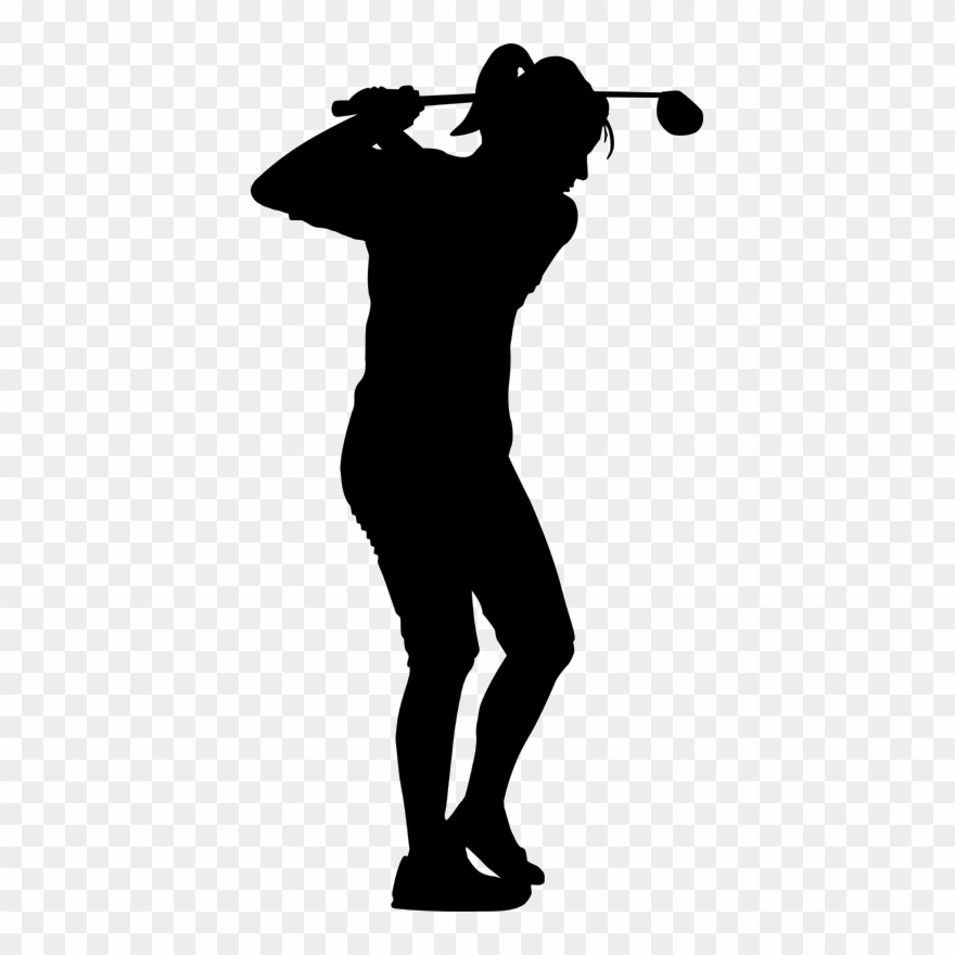 Download Female Golfer Silhouette Clipart Golf Stroke.