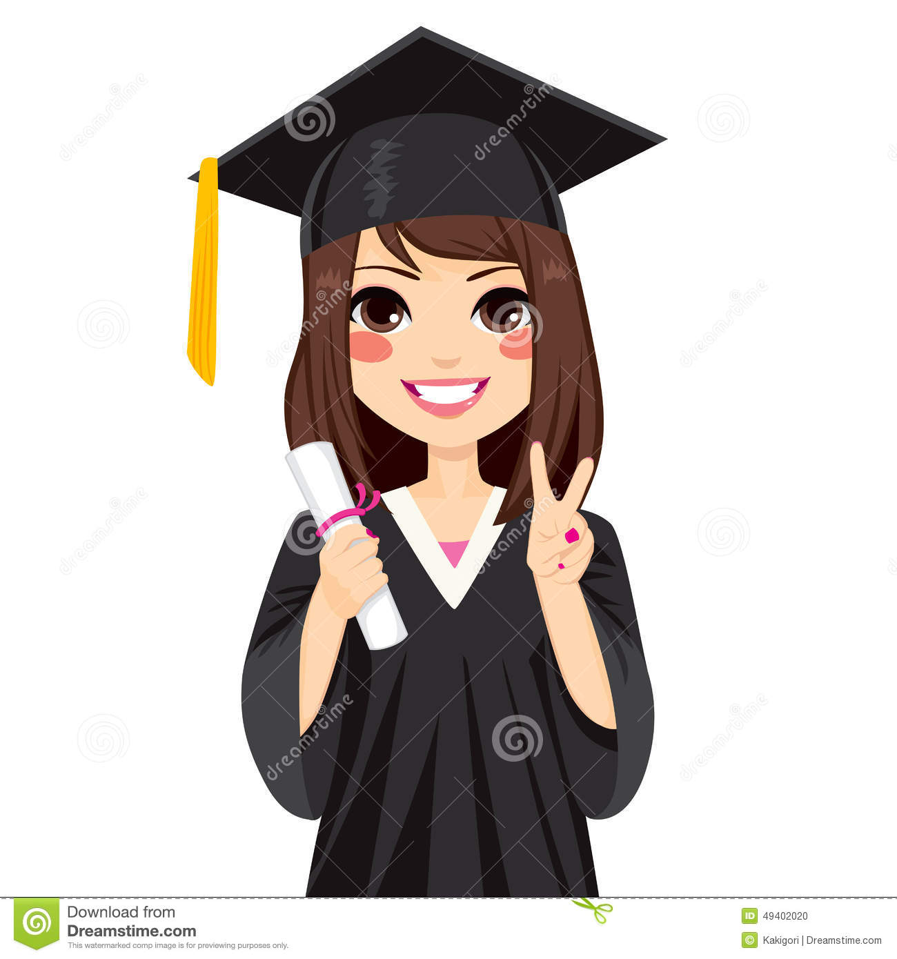 Graduate Clipart Girl.