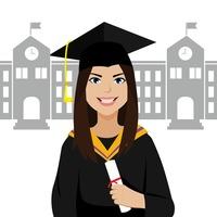 Female Females Graduate Graduates Graduation Student.