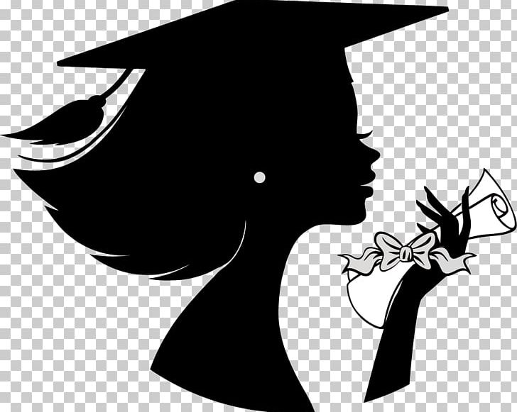 Graduation Ceremony Silhouette Female Girl PNG, Clipart.