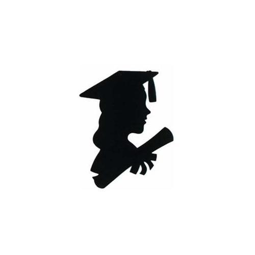 Female Silhouette Graduate Clipart.