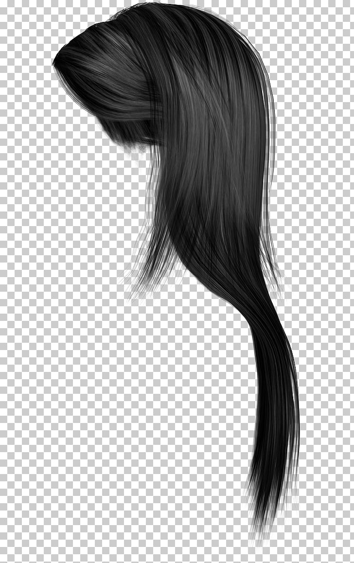 Hairstyle Long hair, Women hair , straight black hair.