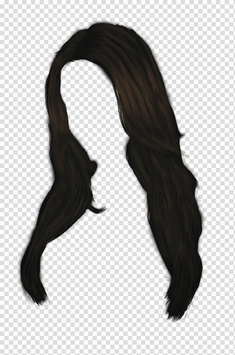 Black hair, Women Hair transparent background PNG clipart.