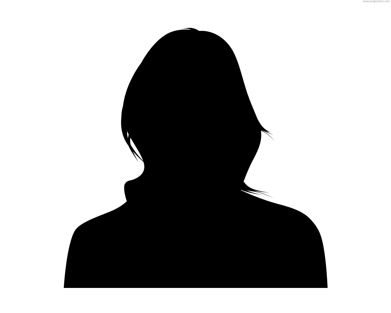 Female Face Silhouette Clipart.
