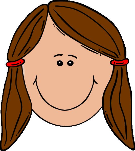 Woman head clipart.