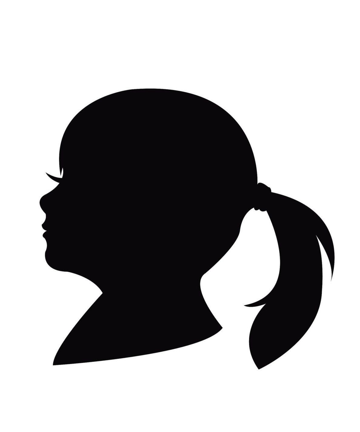 Female Head Silhouette Clip Art.