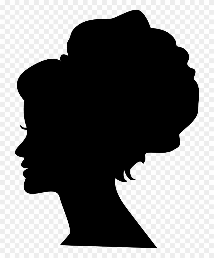 Female Head With Big Hair Shape On It Comments.