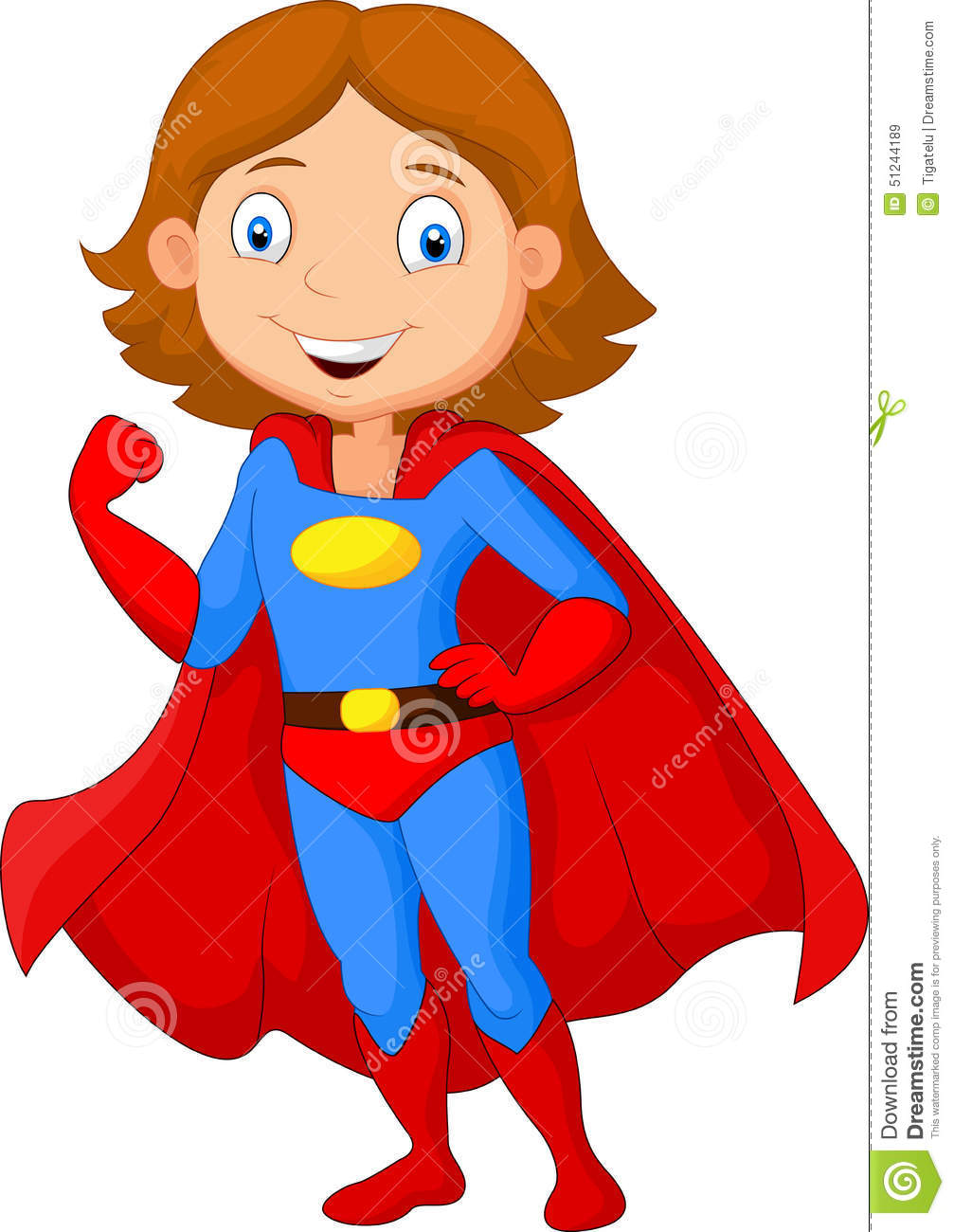 1563 Super Hero free clipart.