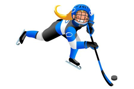 296 Girl Hockey Player Stock Illustrations, Cliparts And Royalty.