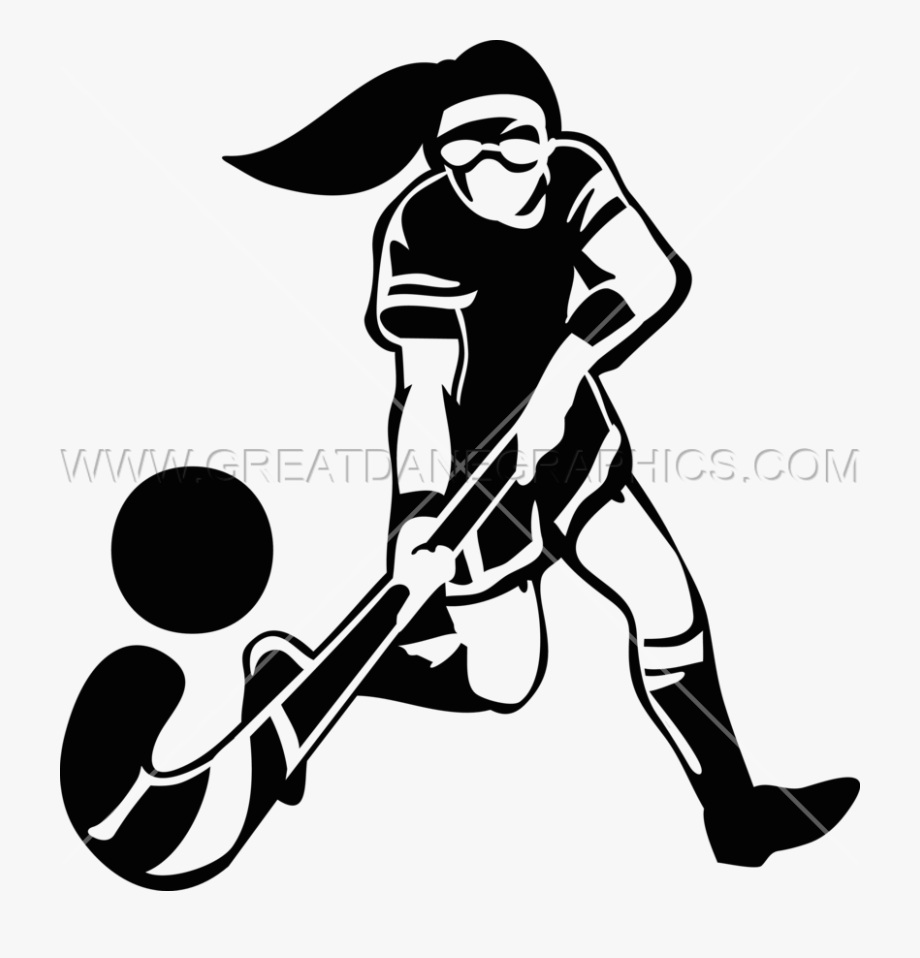 Girl Hockey Player Silhouette At Getdrawings.