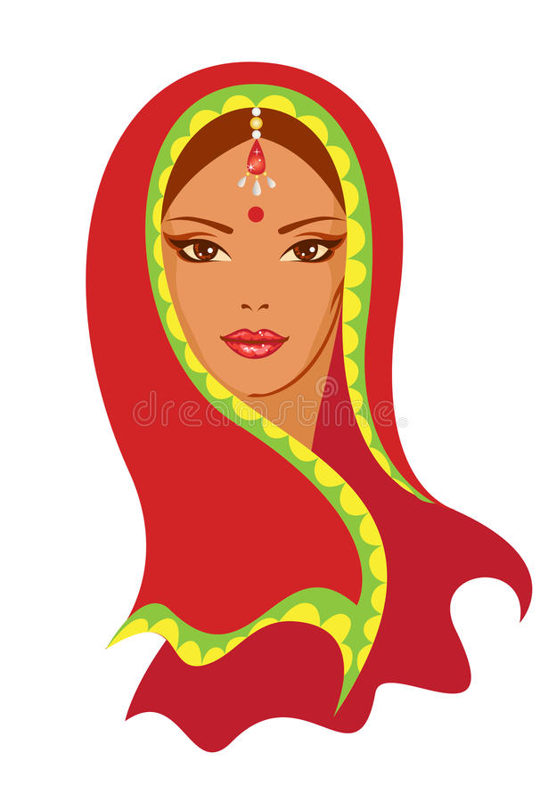 Indian Woman Stock Illustrations.
