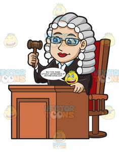 A Friendly Female Judge.