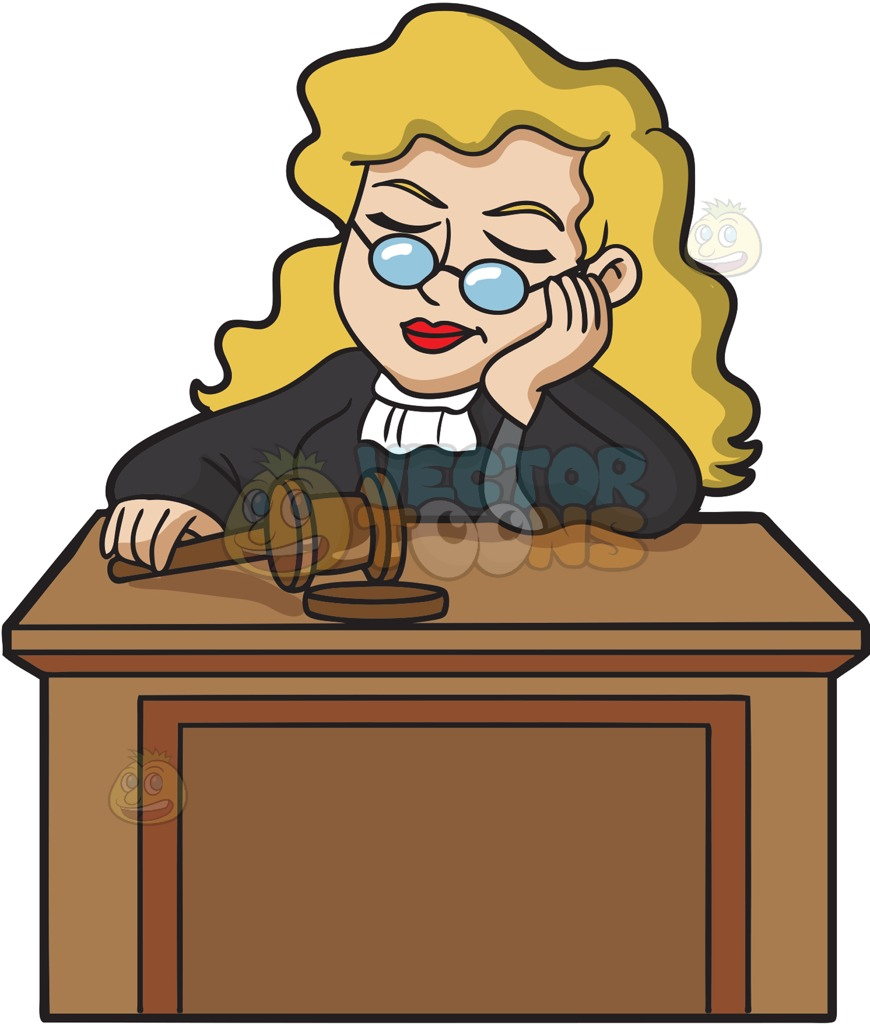 A sleeping female judge » Clipart Station.