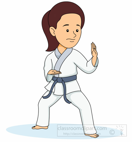 Karate clipart female, Karate female Transparent FREE for.